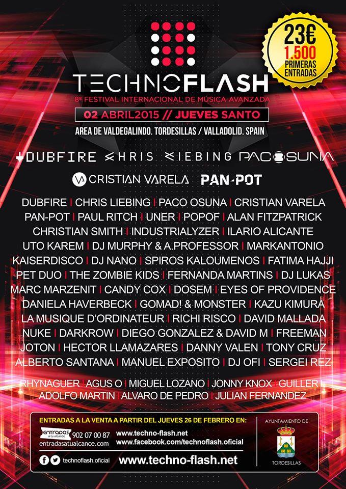 Cartel Techno-Flash 2015