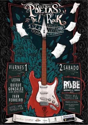 Logo Poetas del Rock Albacete 2017