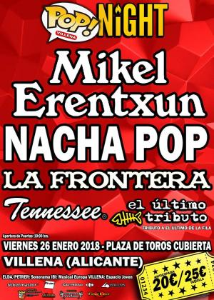 Logo Villena Pop Night 2018