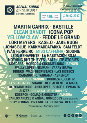 Cartel Arenal Sound 2017