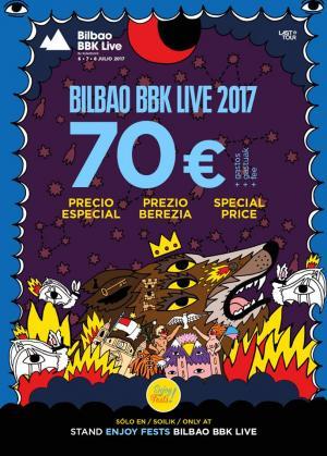 Cartel Bilbao BBK Live 2017