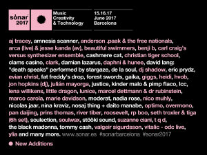 Cartel Sónar 2017
