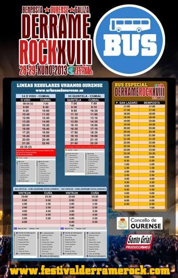 Autobuses Derrame Rock 2013