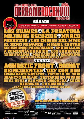 Cartel Derrame Rock 2013