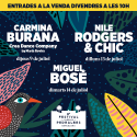 Cartel Festival Jardins Pedralbes 2020