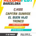 Cartel Reload Fest Barcelona 2018