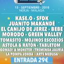 Cartel Chanquete World Music Festival 2018