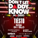 Cartel Don't Let Daddy Know (DLDK) Madrid 2018