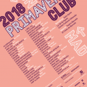 Cartel Primavera Club 2018