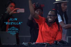 Jlin performs