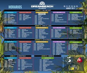 Horarios Dreambeach Villaricos 2017