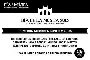 Cartel Día de la Música 2013