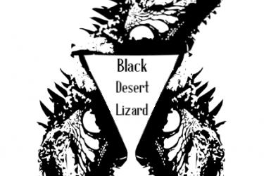 Black Desert Lizard