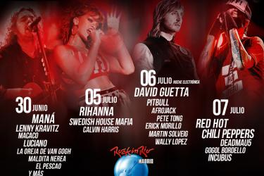 Cartel Rock In Rio Madrid 2012